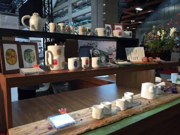 國美館以典藏品為元素開發設計「食之器」參與2016臺灣美食展
