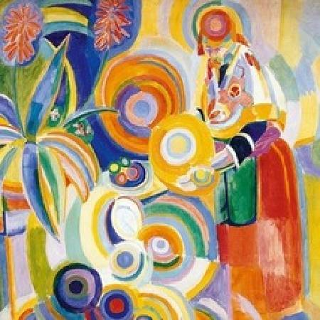 Robert Delaunay《La grande portugaise》。圖/取自Wikipedia。