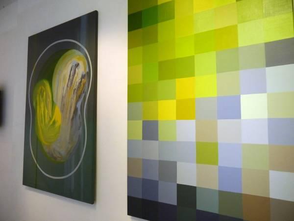 林慧如「變型體_繪畫與動畫的超連結」。圖/非池中藝術網攝。