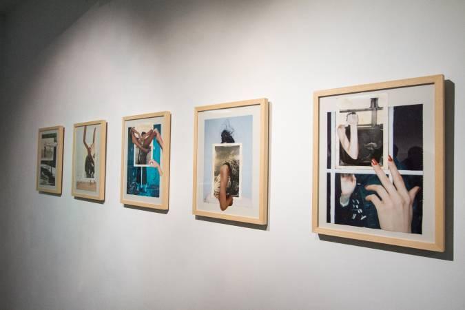 摩勒一系列結合台灣老照片的拼貼作品。圖/ 非池中藝術網攝。