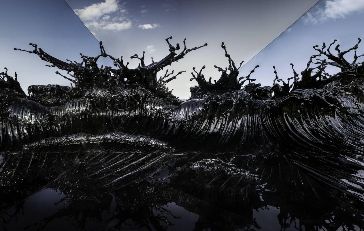 潮騷_365x210x200cm_不鏽鋼,漆_2015