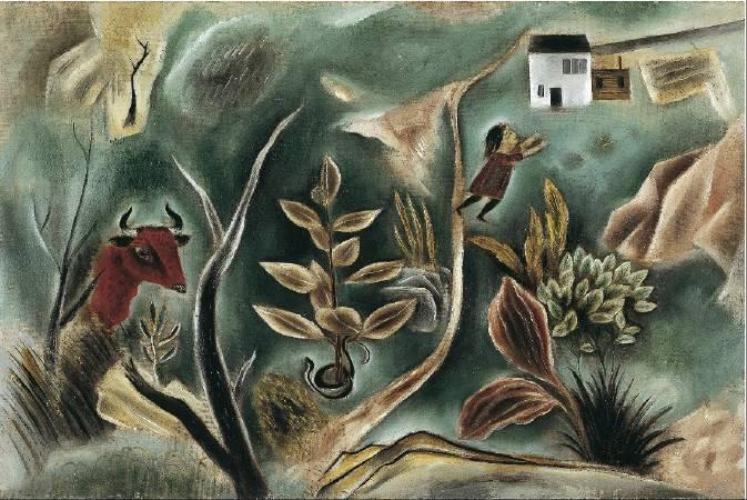 國吉康雄《夢》,1922。