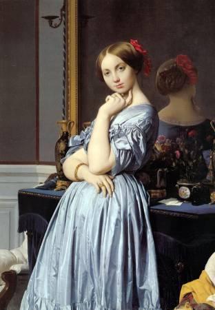 安格爾,奧松維爾伯爵夫人像