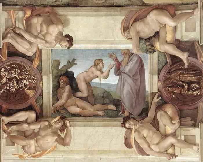 西斯汀教堂穹頂壁畫 隱藏女性符號