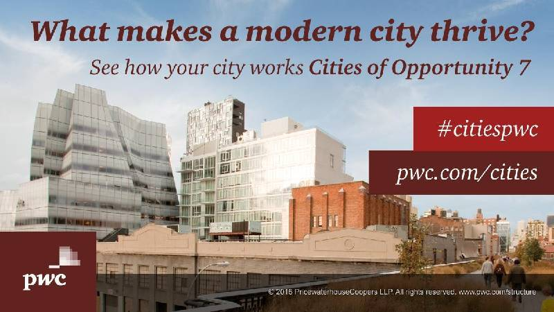 PwC城市前景調查(Cities of Opportunity)。圖/取自PwC。