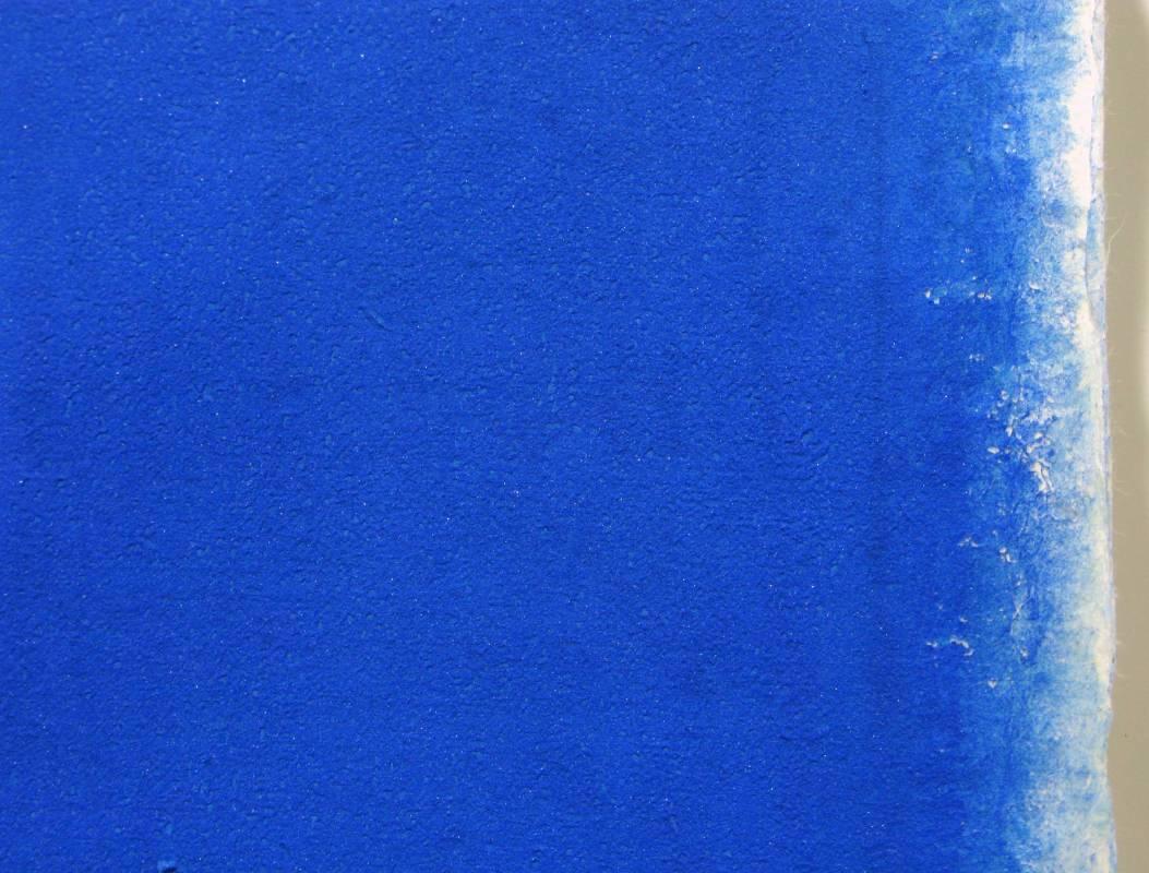 Ultramarine(detail), azurite, lapis lazuli on torinoko paper, 153 x 213 cm