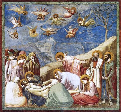 《哀悼基督》, Giotto di Bondone, Image from https://en.wikipedia.org/wiki/Giotto#/media/File:Giotto_-_Scrovegni_-_-36-_-_Lamentation_(The_Mourning_of_Christ)_adj.jpg