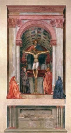 《聖三位一體》, Masaccio, Image from https://commons.wikimedia.org/wiki/Category:Trinity_(Masaccio)