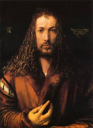 《自畫像》, Albrecht Duerer, Image from http://big5.xinhuanet.com/gate/big5/news.xinhuanet.com/shuhua/2011-08/29/c_121927848.htm