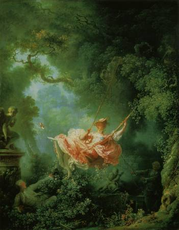 《鞦韆》,Jean-Honore Fragonard。