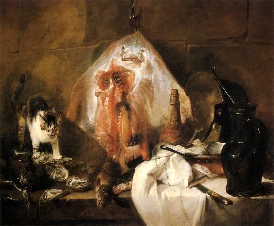 《鰩魚》, Jean Baptiste Simeon Chardin。