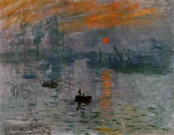 《印象.日出》, Monet。