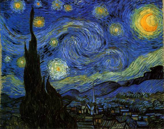 《星夜》, Vincent Van Gogh。
