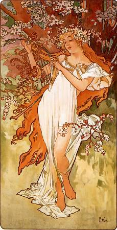 《春》,Alphonse Maria Mucha。