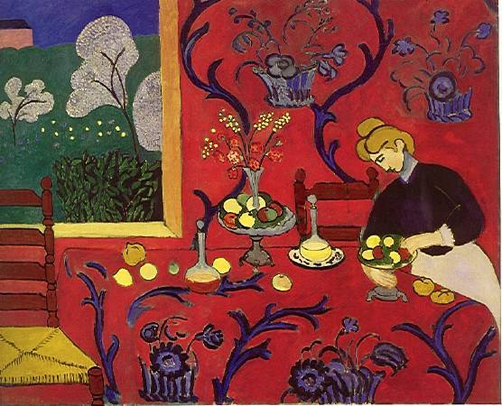 《红色的和谐》, Henri Matisse。