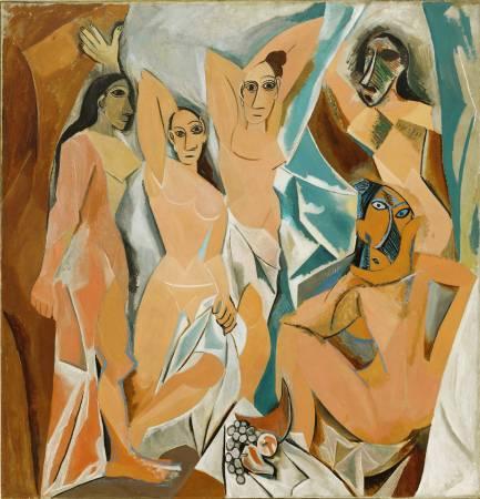 《亞維儂的少女》, Pablo Picasso, Image from http://vr.theatre.ntu.edu.tw/fineart/painter-wt/picasso/picasso-1907.htm