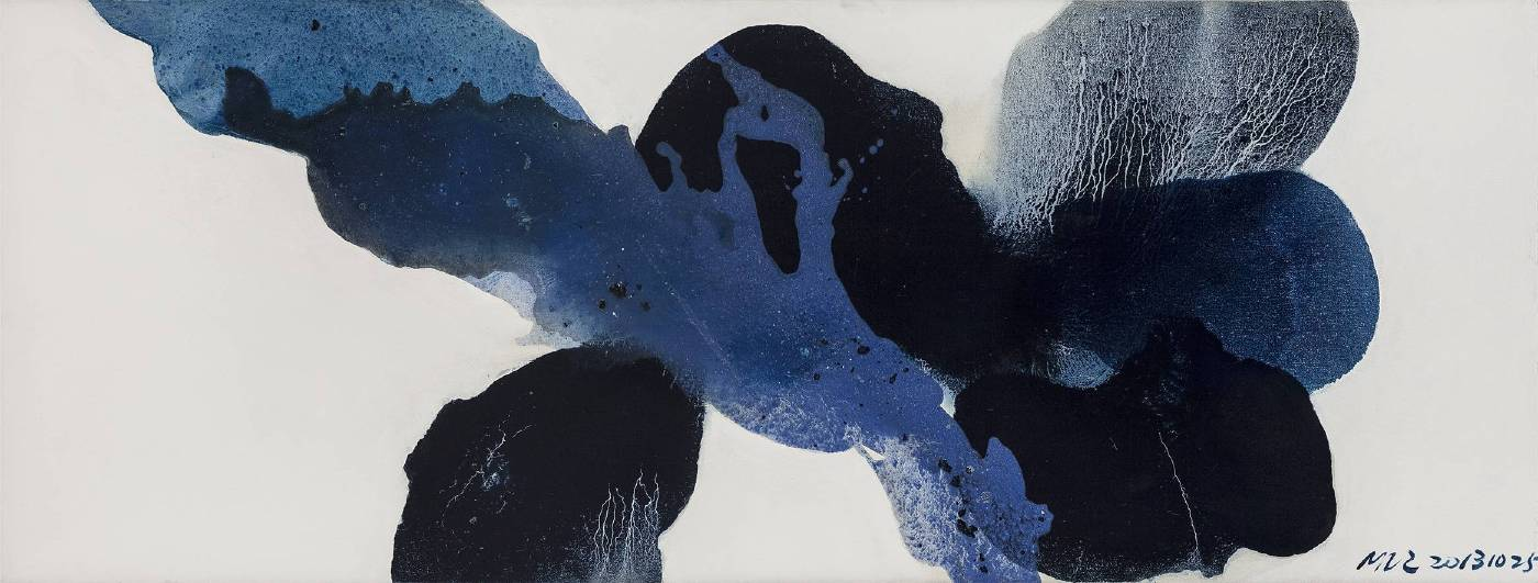 毛栗子 Mao Lizi  花非花 Ambigous Flowers 布面油彩 Oil on Canvas 210×80cm  2013