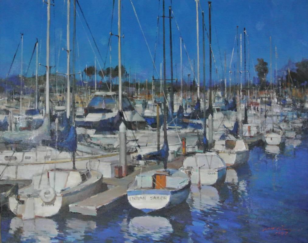 陳輝東《  加州黛納岬》  30F   油畫  1997