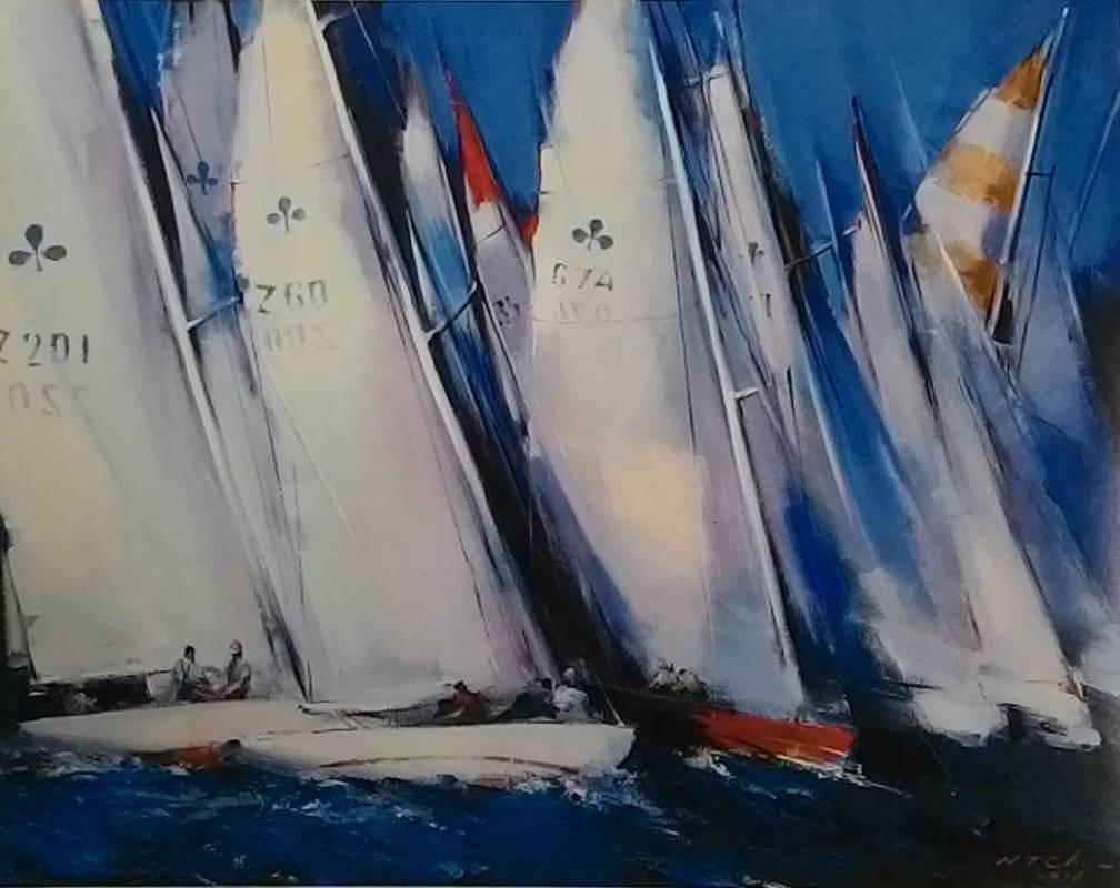 陳輝東《  飛向藍天 》  50F   油畫  1997