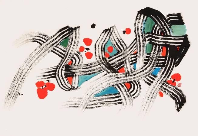 楚戈 春之舞曲 44x63.5 cm 水墨紙本