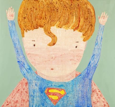 羅喬綾_拯救世界-超人_2016_壓克力、畫布_140×150cm