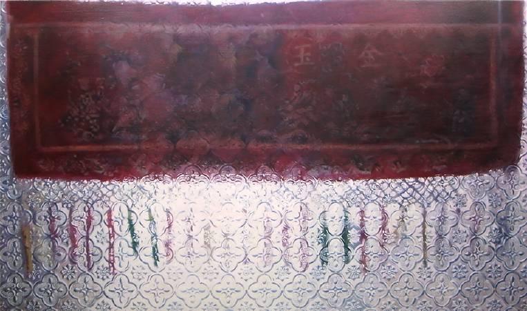 門彩,oil on canvas,145.5x90 cm,2016