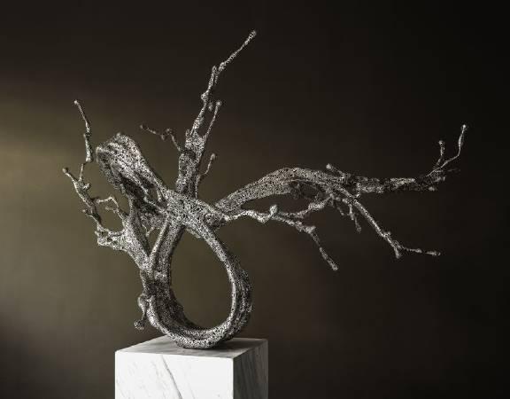 鄭路作品 淋漓-洌  Water in dripping - Lie 163 x 110 x 104 cm  不鏽鋼 Stainless Steel 2016