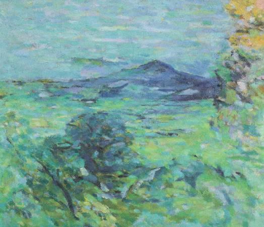 陳德旺《觀音山》,1974年,10F,油彩畫布