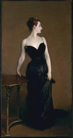 薩金特《X夫人》(Madame X),1884。圖/取自Wikipedia。