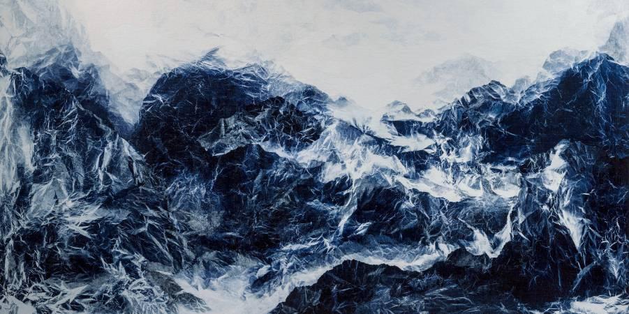 2016, 氰山集之二, 氰版, 宣紙, 壓克力膠