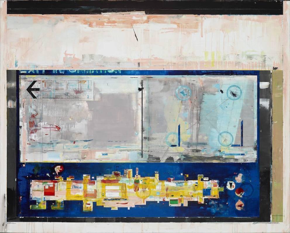 〈Aircraft 13〉  Mixed media, acrylic on canvas 130 × 162 cm 複合媒材、壓克力、畫布 2016