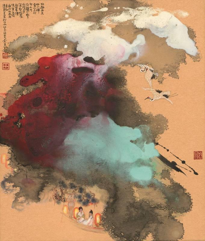 陳菊美,《物趣由來》,2016,水墨,46x54cm