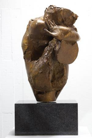 盈甕  Filled Vessel 35x37x62.5cm,Bronze,2013
