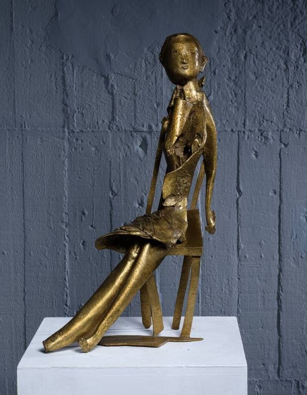 小女孩  Little Girl 31x15.5x51cm,Bronze,2016