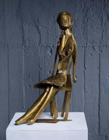 小女孩  Little Girl 31x15.5x51cm,Bronze,2016