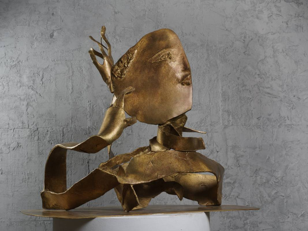 思  Thinking 96.5x55x88cm,Bronze,2016