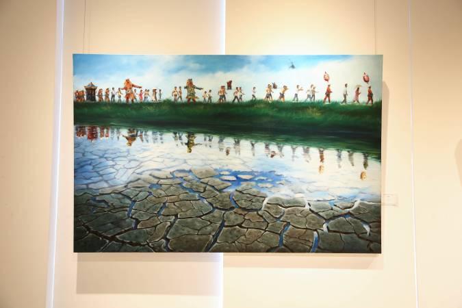 楊義勳《祈之頌》。圖/非池中藝術網攝。