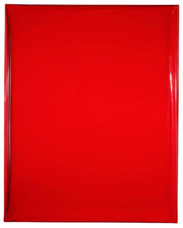 洪藝真 紅層 150x120cm 壓克力顏料、玻璃纖維  2007