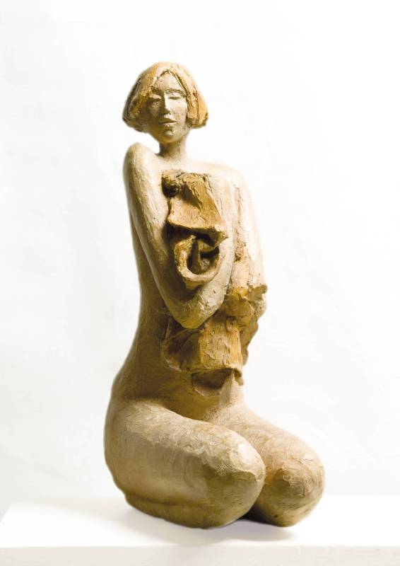 Mirella Guasti《Surprise》#4 of 6 Bronze_H 44cm_2015義大利