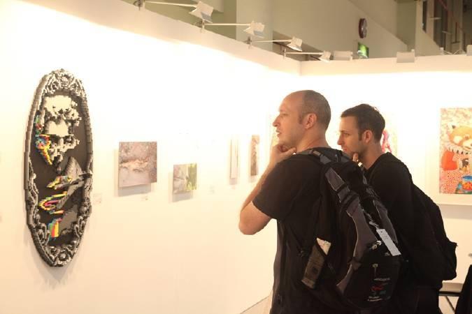 「2017台北新藝術博覽會」國際藝術家專程遠道來台參與藝術盛會,與民眾面對面