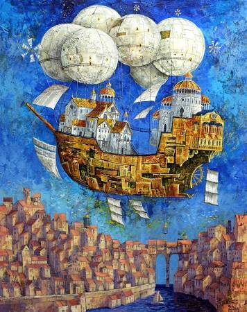 Roch Urbaniak《Aviator》Acrylic on Canvas 65×81cm 2017 波蘭