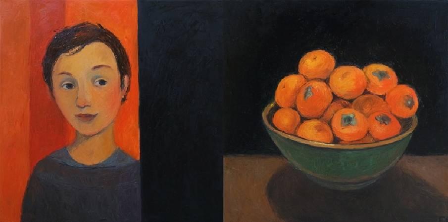 Galya Popova《Influence Dyptich》Oil on Canvas 100×50cm 2016 俄羅斯