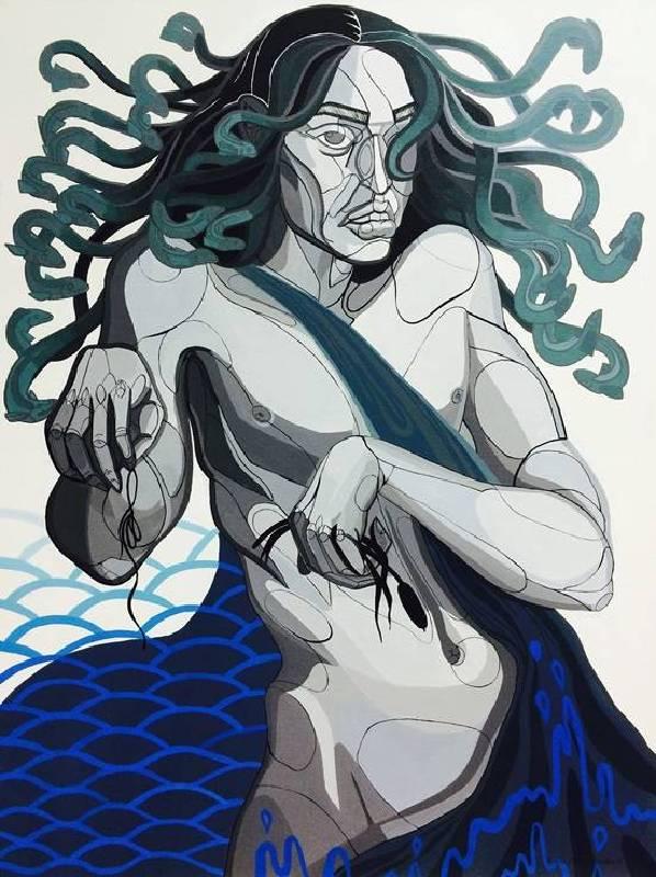 Zofia Pałucha (ZOZO)《Aquarius》Acrylic on Canvas 60×80cm 2016 波蘭