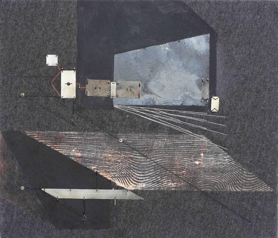 漂泊廣場之二 Adrift Space No.2|45.5 x 53 cm|複合媒材Mixed Media|2016