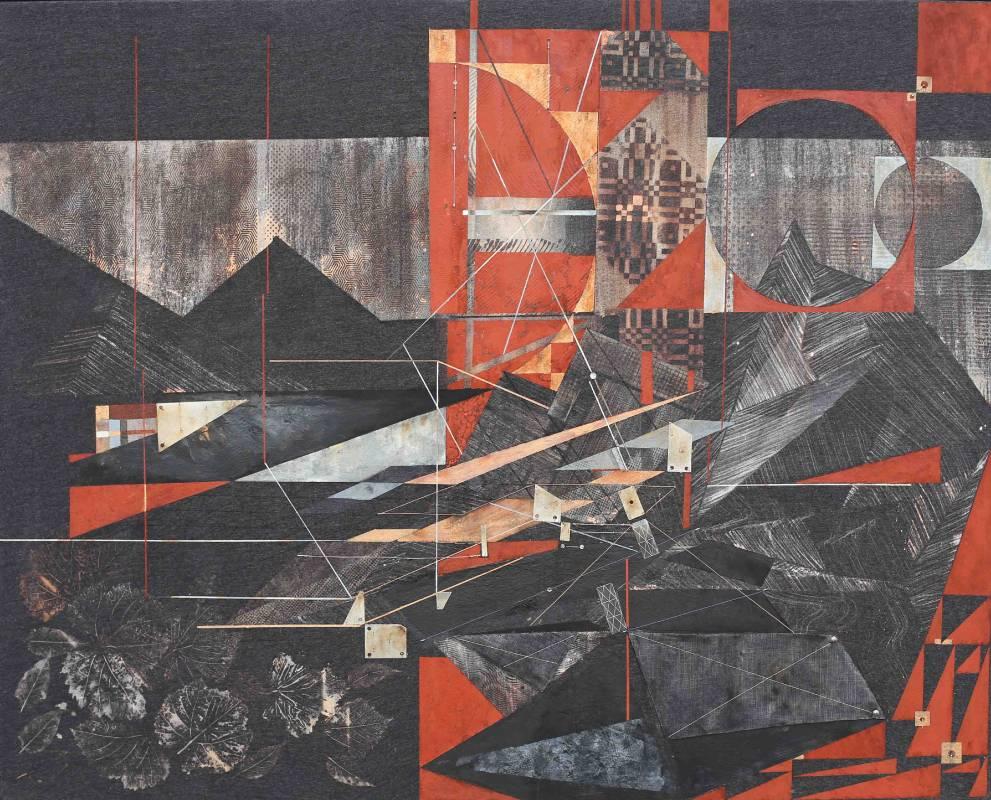 盤古 Pangea|130 x 162 cm|複合媒材Mixed Media|2017