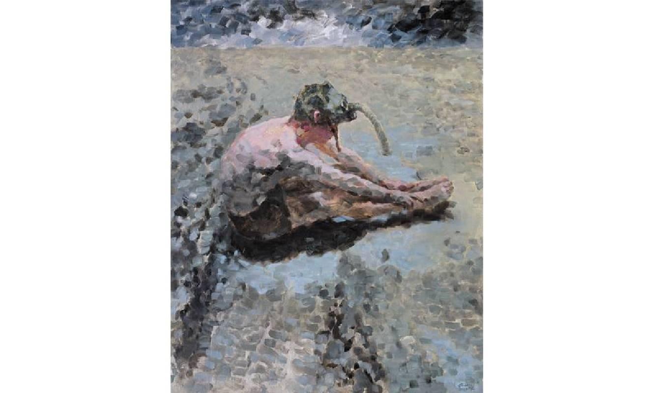 邱軍Qiu Jun・呼吸5Breathing4・油彩畫布Oil on canvas・173x137cm・2011