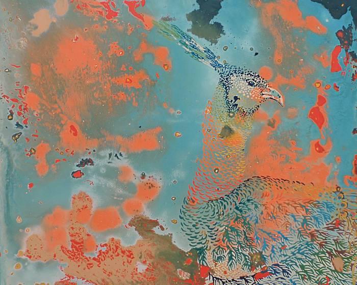 金車文教基金會【王雯-油畫&大漆展】人心與意識的交織