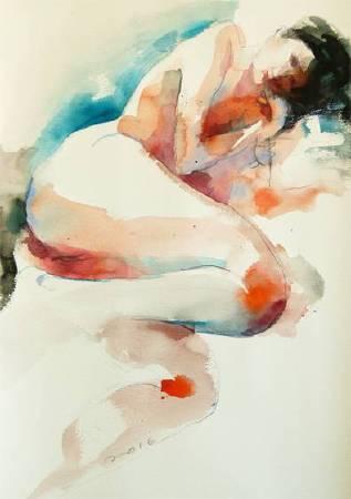 那天9 That day | 水彩 Watercolor on paper| 55x40cm|2016