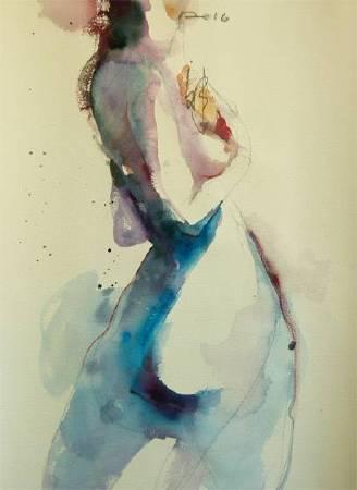 那天1 That day | 水彩 Watercolor on paper| 55x40cm|2016