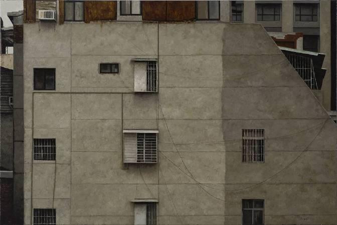 蔡孟閶〈北上〉2016.60.5×91cm.油彩畫布